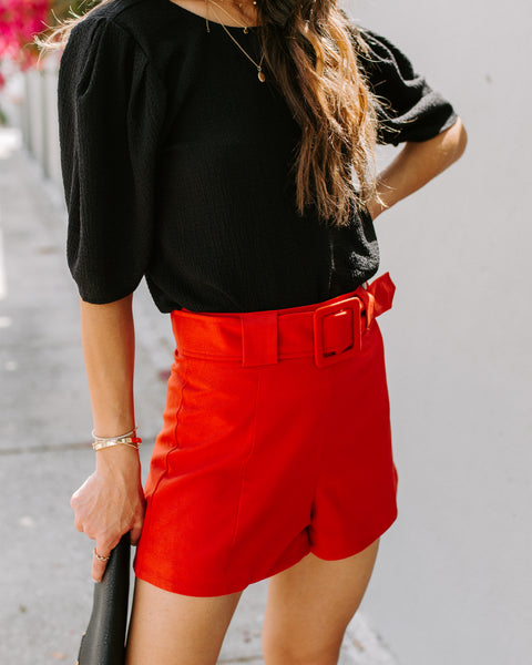 Imagine That Belted Shorts - Burnt Sienna - FINAL SALE