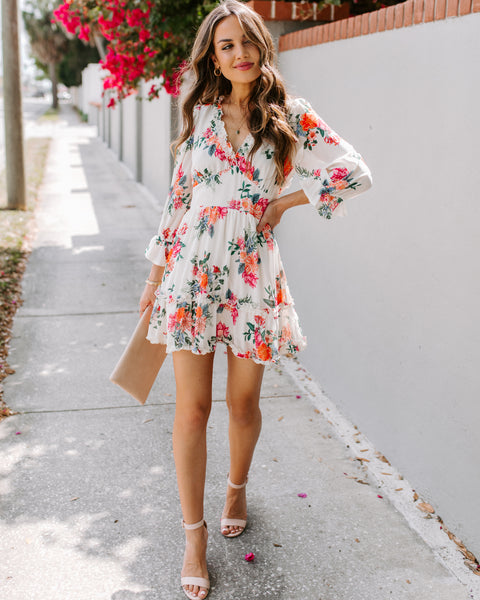 Roberta Floral Backless Ruffle Dress - FLASH SALE