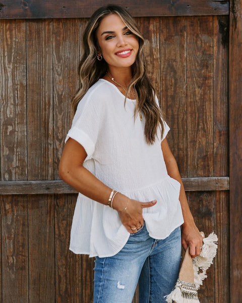 Prevail Crinkled Peplum Top