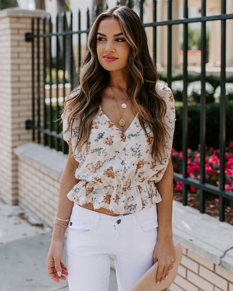 Guarded Heart Embroidered Peplum Top