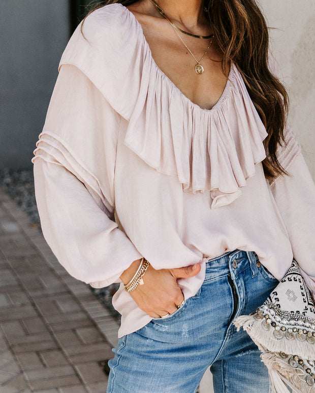 Time To Upgrade Ruffle Blouse - Bone