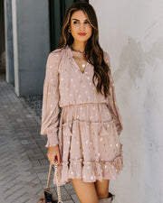Kobe Smocked Metallic Chiffon Dress - FINAL SALE