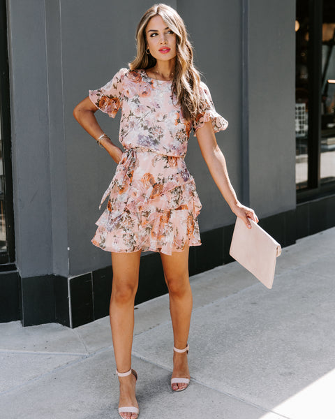 Created With Love Floral Ruffle Dress