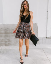 Every Which Way Tiered Chiffon Leopard Skirt