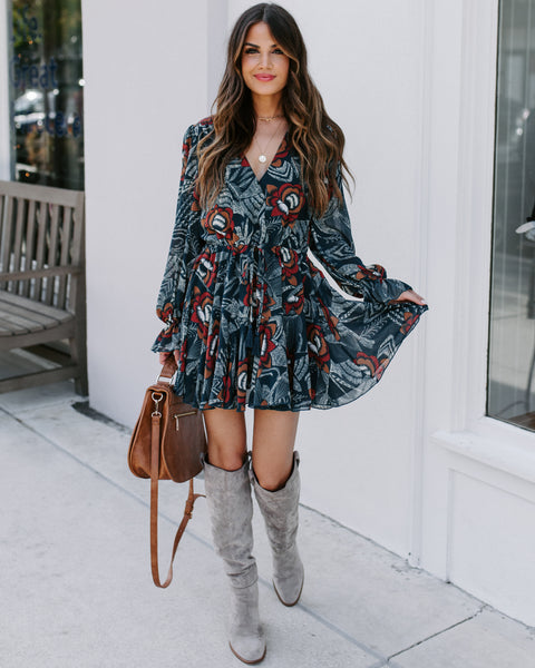 Versatility Floral Ruffle Dress