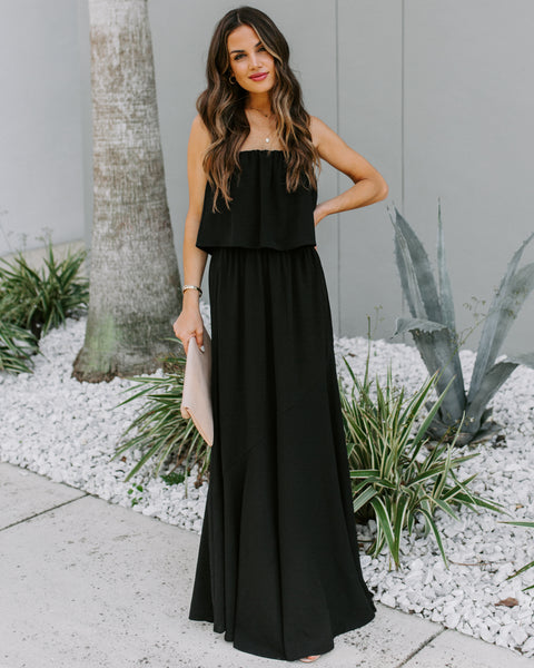 Festivities Strapless Maxi Dress - Black