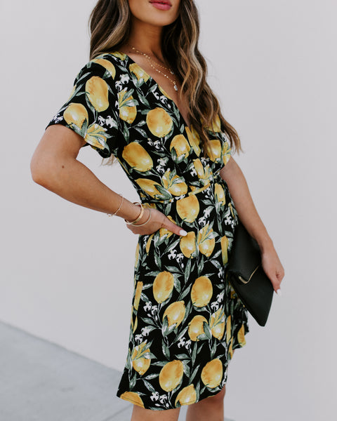 Easy Peasy, Lemon Squeezy Wrap Dress