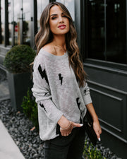 Stormy Nights Knit Sweater - Grey