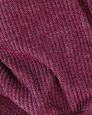 Down The Road Thermal Knit Drape Top - Plum