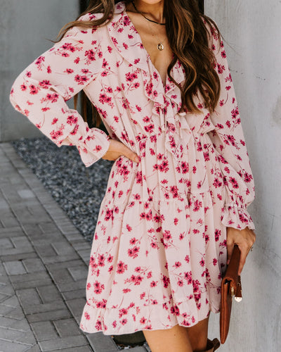 Before You Go Floral Tiered Ruffle Dress