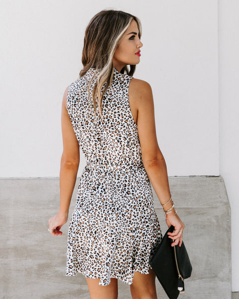 Zealand Satin Leopard Dress