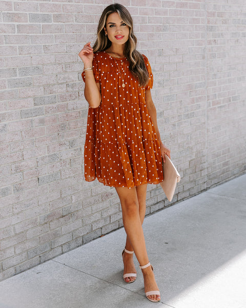 Alejandra Embroidered Polka Dot Dress