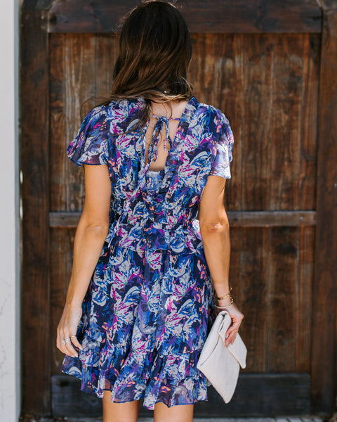 Doris Printed Ruffle Dress