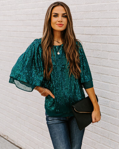 Gift Guide Sequin Chiffon Top