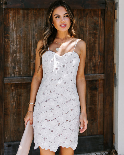 Venue Floral Crochet Lace Dress - FINAL SALE