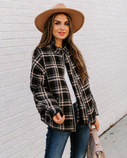All About Plaid Pocketed Quilted Jacket