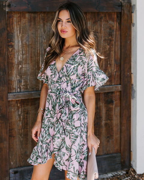 Facepalm Ruffle Wrap Dress