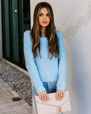 Snowbound Square Neck Ribbed Knit Sweater
