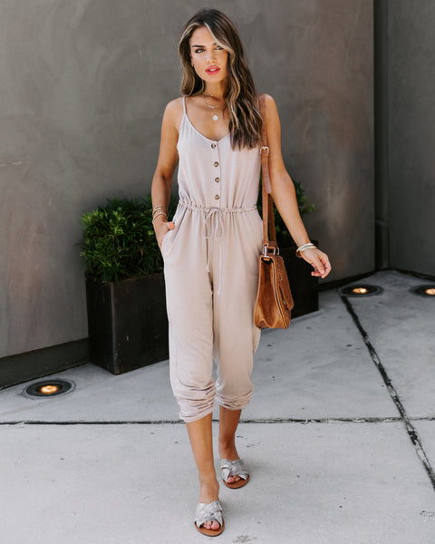 Marni Pocketed Knit Jumpsuit - Mocha