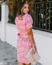 Belt It Cotton Pocketed Floral Dress - FINAL SALE