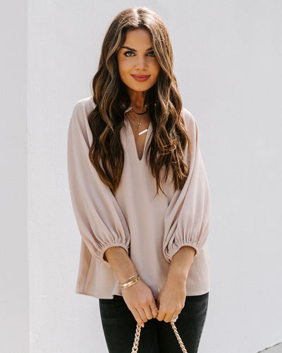 Seen It All Balloon Sleeve Blouse - Ecru