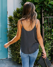 Fit To A T Polka Dot Surplice Cami Tank - FINAL SALE