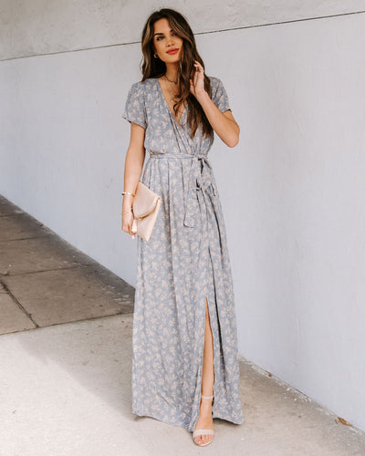 Milton Floral Bardot Wrap Maxi Dress