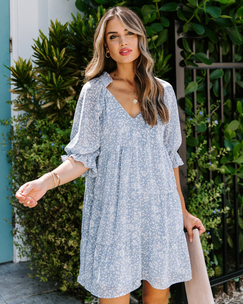 Rhonda Printed Tiered Dress