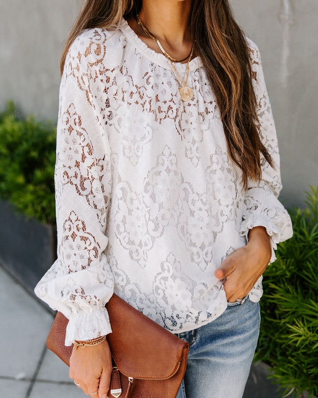 Shantelle Lace Top - White