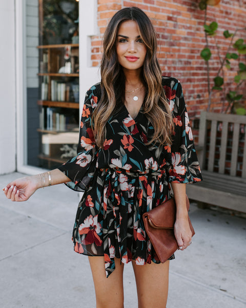 Treasure Today Floral Romper - FINAL SALE