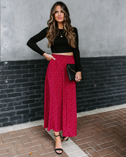 Scarsdale Printed Midi Skirt - FINAL SALE