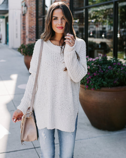 Vice Versa Knit Sweater - Sweet Cream