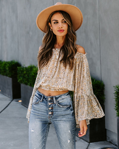 Hidden Gem Off The Shoulder Bell Sleeve Blouse