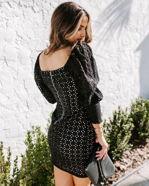 Daylight To Midnight Eyelet Dress