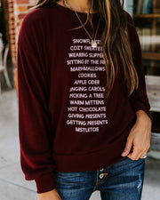 Holiday To-Do List Pullover
