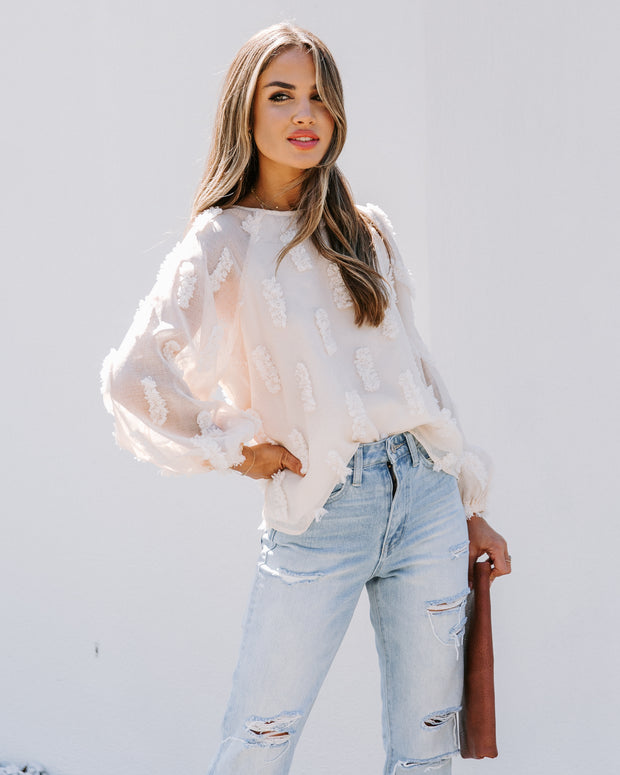 Holiday In Havana Textured Blouse