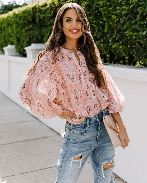 Eleanor Paisley Blouse
