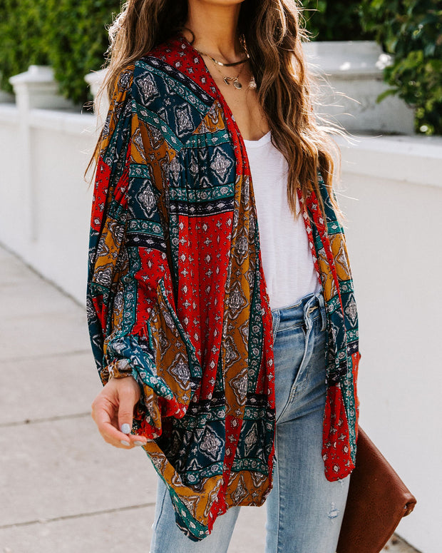 What Makes You Happy Patchwork Kimono