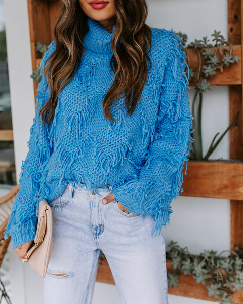 Cookie Monster Fringe Turtleneck Sweater  - FINAL SALE