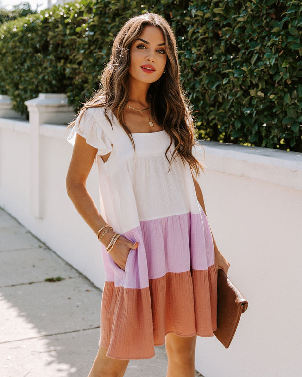 Layers Of Fun Cotton Pocketed Babydoll Dress