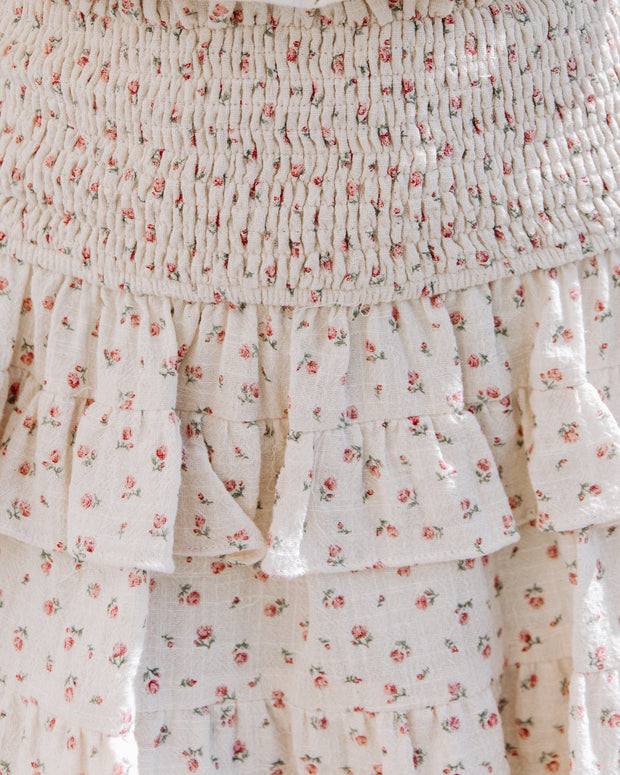 Jojo Floral Smocked Ruffle Tiered Skirt - FINAL SALE