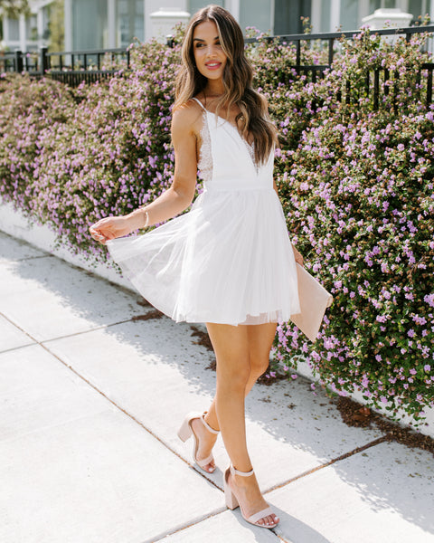 All About You Lace Babydoll Tulle Dress - FINAL SALE