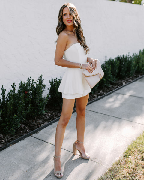 Your One + Only Strapless Romper - White