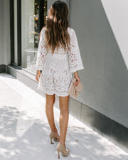 Can't Help Falling In Love Lace Dress - White