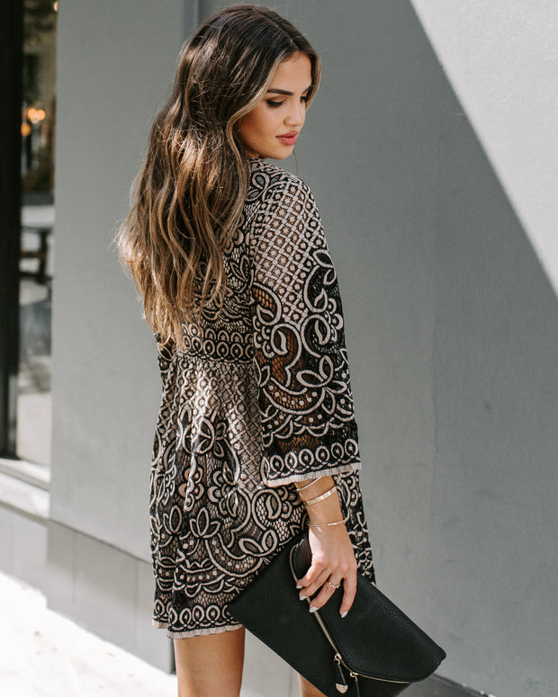 Can't Help Falling In Love Lace Dress - Black - FINAL SALE