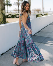 Lift You Up Printed Halter Maxi Dress - FINAL SALE