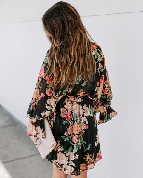 Muscari Floral Ruffle Dress