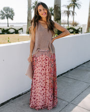 Featherweight Mix Print Floral Maxi Skirt - FINAL SALE view 7