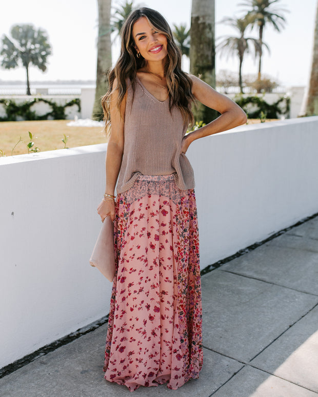 Featherweight Mix Print Floral Maxi Skirt - FINAL SALE view 1