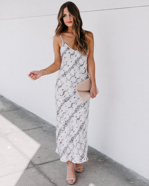 Turnaround Satin Midi Slip Dress - FINAL SALE